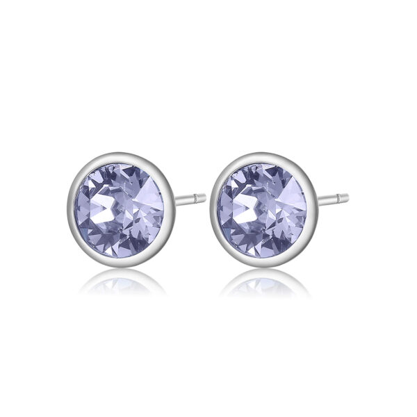 316L stainless steel earrings with provence lavender crystals.