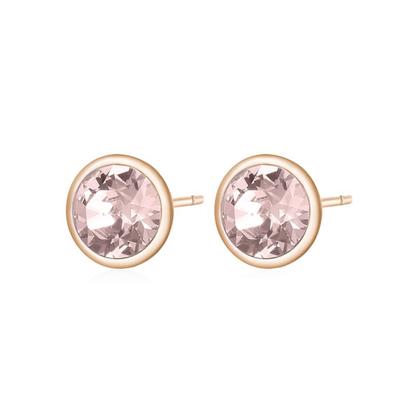316L stainless steel earrings and rose gold pvd with vintage rose crystals.