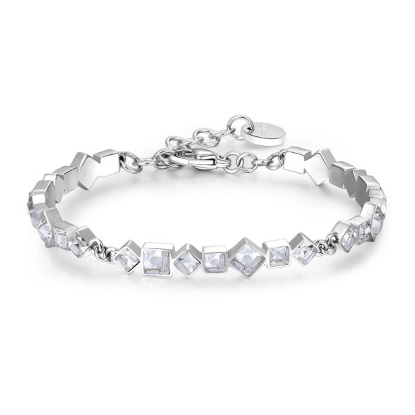 316L stainless steel bracelet with crystal crystals