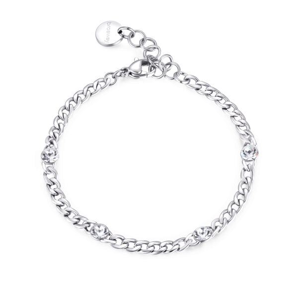 316L stainless steel bracelet with crystals.