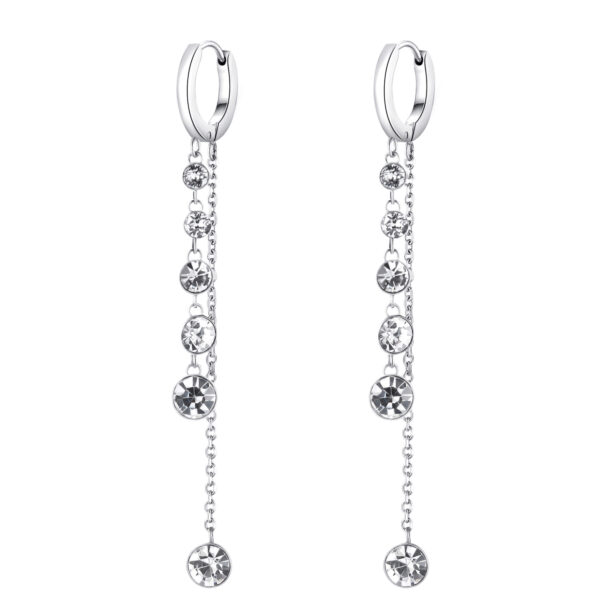 316L stainless steel earrings and pendants with crystals.