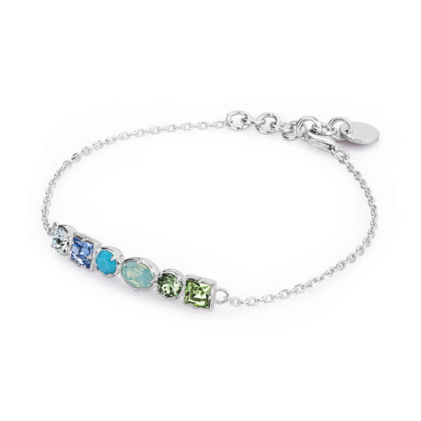 925 rhodium-plated silver tennis bracelet and zircons
