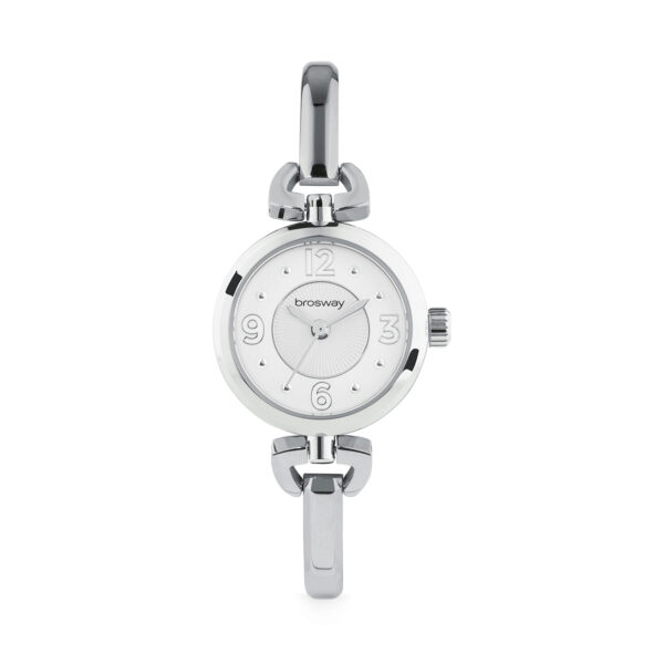 Functions: hours, minutes, seconds. Movement: just time Miyota Case: 304 stainless steel, mineral glass Dial: white Waterproof: 3 ATM Strap:316L stainless steel