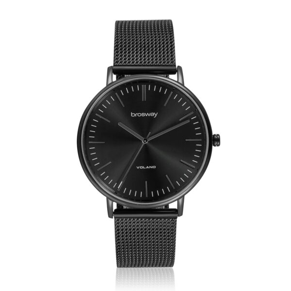 Features: hours, minutes, seconds Movement: japanese quartz movement Case: Ø 42 mm 304 stainless steel, black pvd, mineral glass and screw-down crown Dial: lack sunray Water resistant: 3 atmospheres Wristband: 304 stainless steel