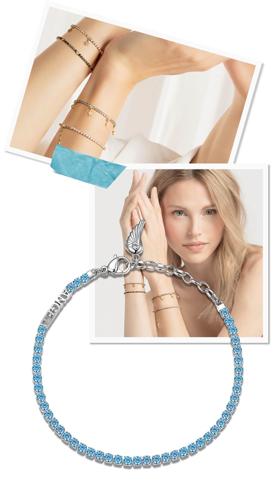 Desideri tennis bracelet with girl