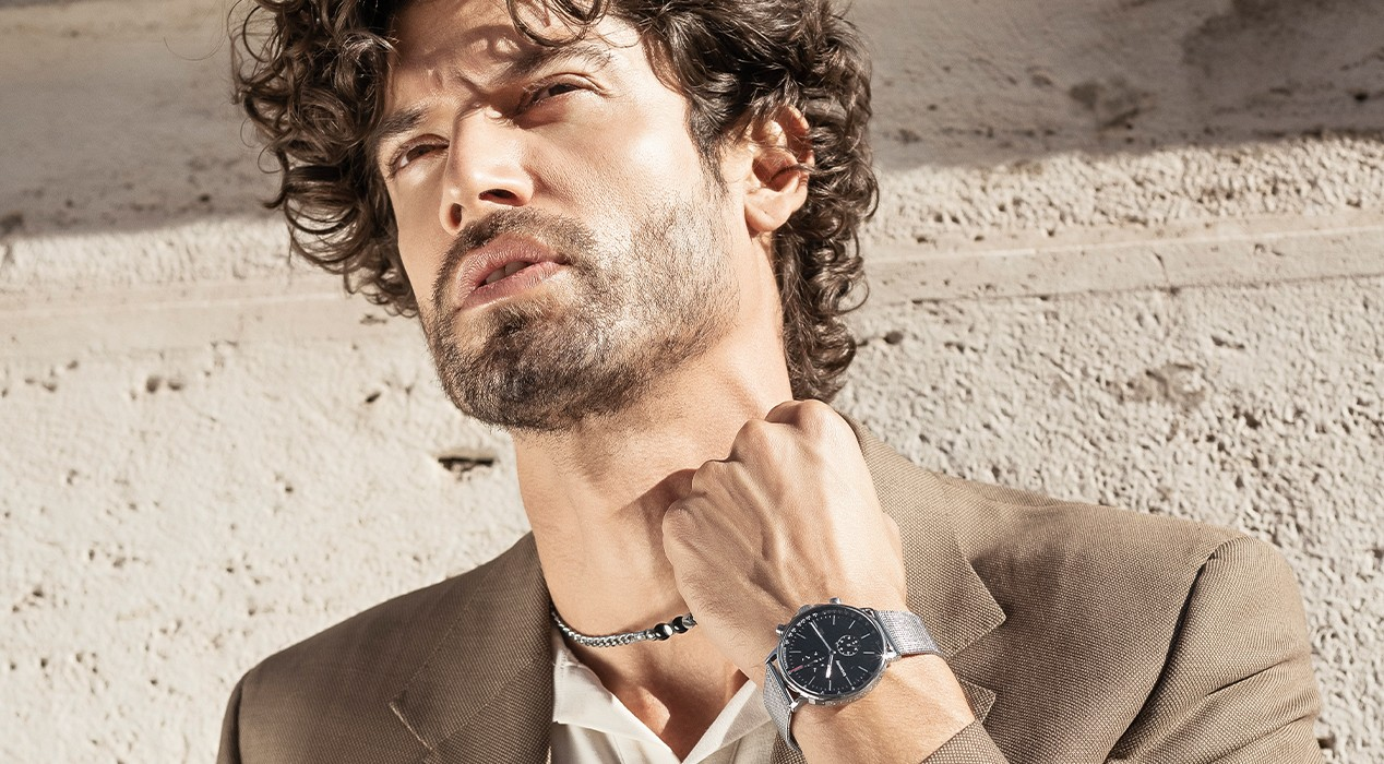 man with a brosway watch