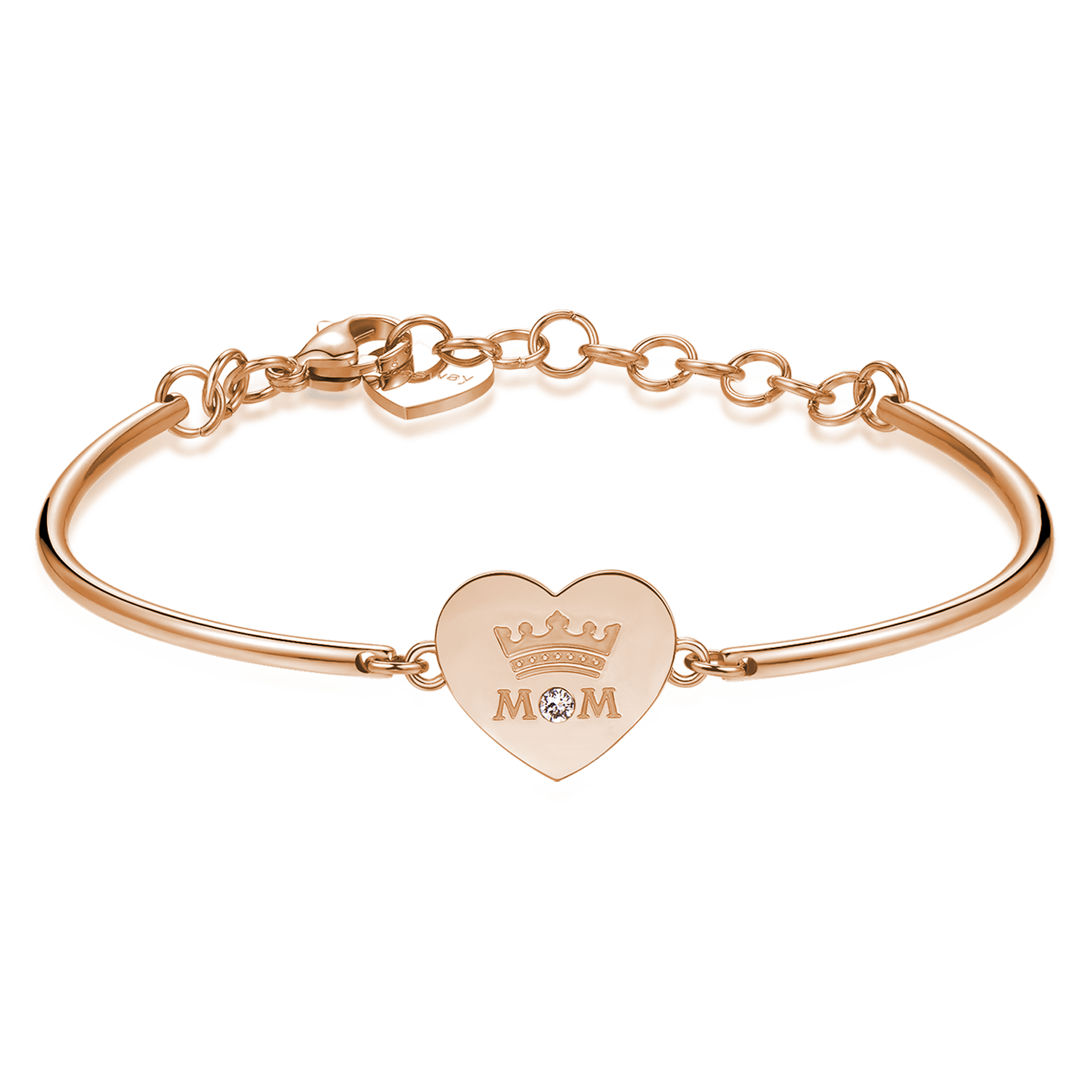 chakra bracelet with mom engrave