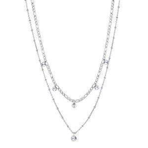 silver groumette necklace