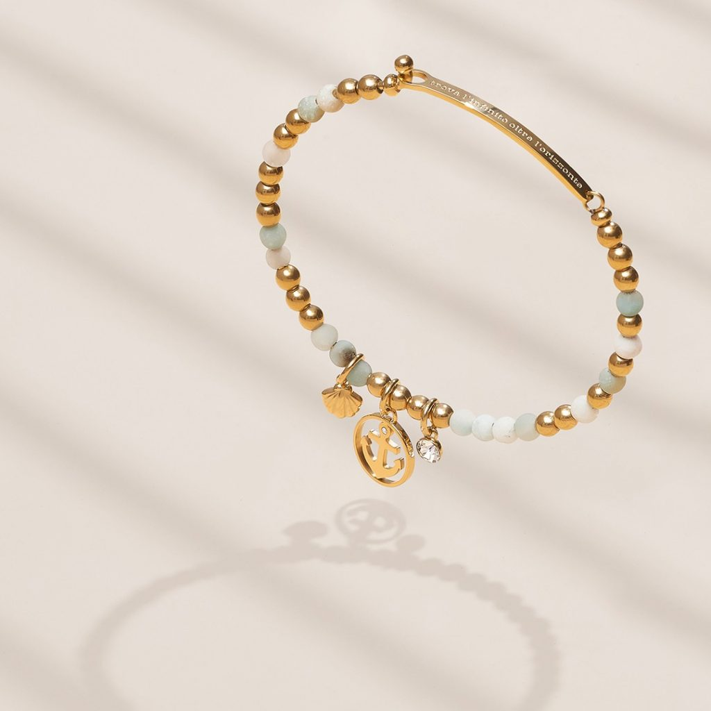 chakra new rigid bracelet with a short text